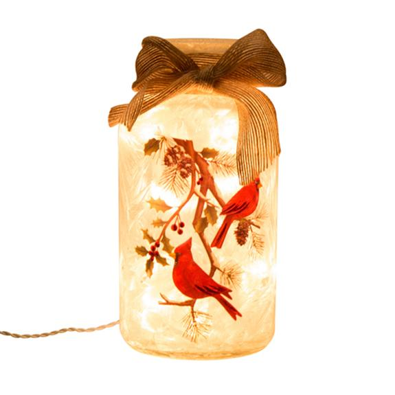 Illuminated Cardinal Mason Jar - Shop the American Diabetes Association Gift of Hope Catalog #ad