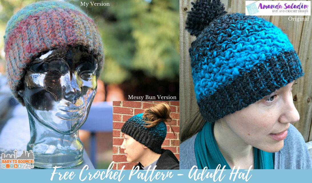 Free Crochet Hat Pattern Plus How To Account For Yarn Changes
