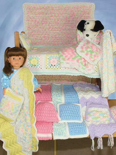 15- and 18- Doll Crochet Blanket Patterns