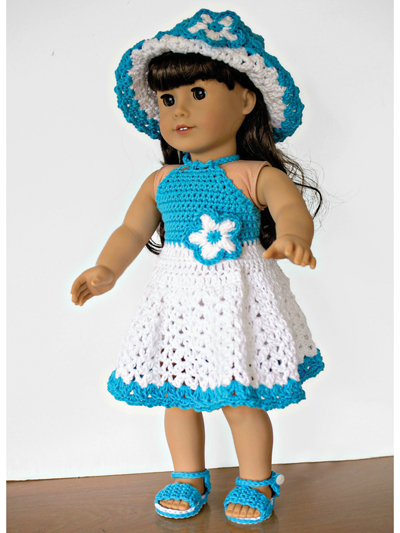 Dolly Halter Dress Set for 18-in Dolls aff