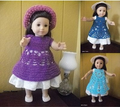 Doll Dress Pattern Collection Crochet Patterns - 18-in Prairie Dresses  aff