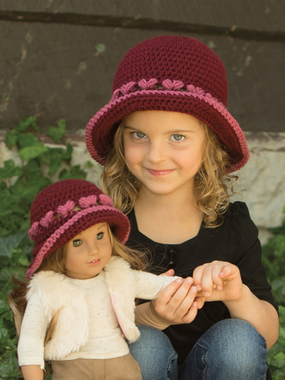 Topeka Brimmed Hat Crochet Pattern Dollie & Me - sizes to adult aff