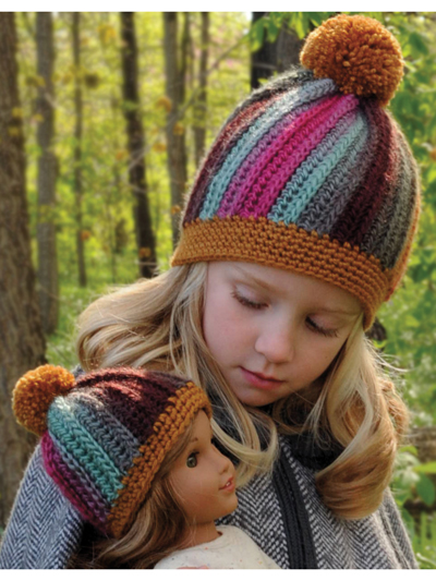Hillside Beanie - 18-inch doll to adult sizes  aff