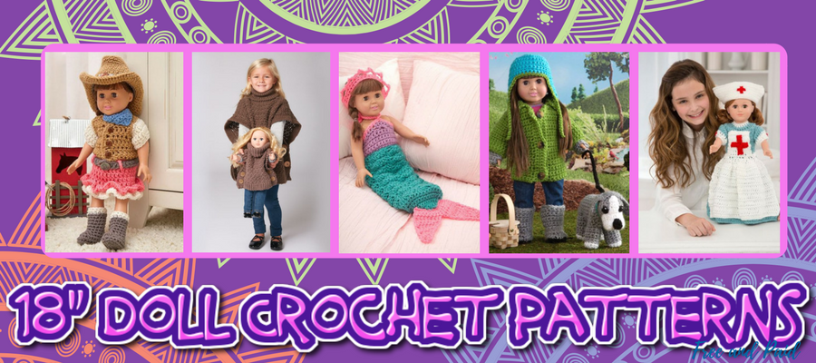 18-inch doll crochet patterns free and paid