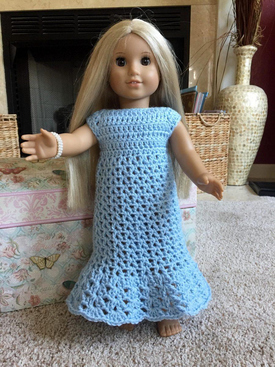 Free Nightgown Crochet Pattern for 18 inch Dolls