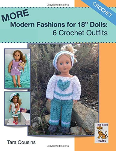 """MORE Modern Fashions for 18"""" Dolls: 6 Crochet Outfit Patterns aff"""