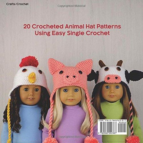 Amigurumi Animal Hats for 18-Inch Dolls Crochet Patterns