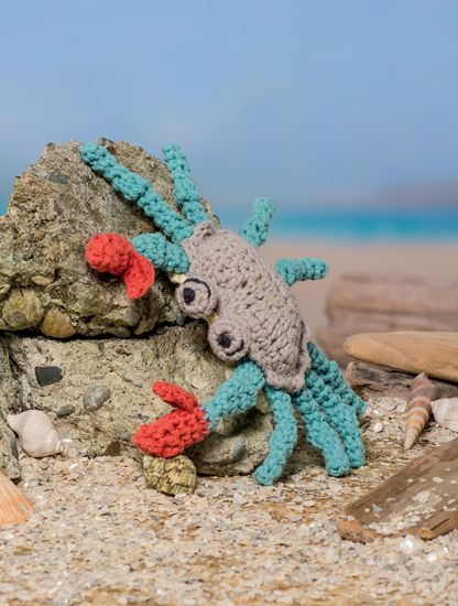 Crab (Blue Crab) - Bathtime-Buddies - 20 Crochet Animals from the Sea