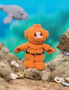 Diver (Deep Sea Diver) - Bathtime-Buddies - 20 Crochet Animals from the Sea