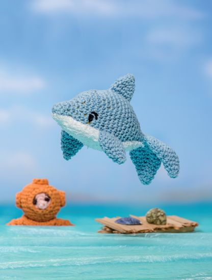 Dolphin - Bathtime-Buddies - 20 Crochet Animals from the Sea