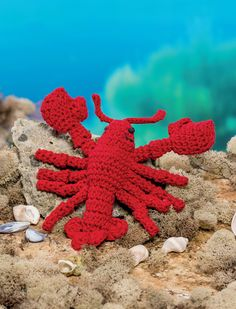 Lobster - Bathtime-Buddies - 20 Crochet Animals from the Sea