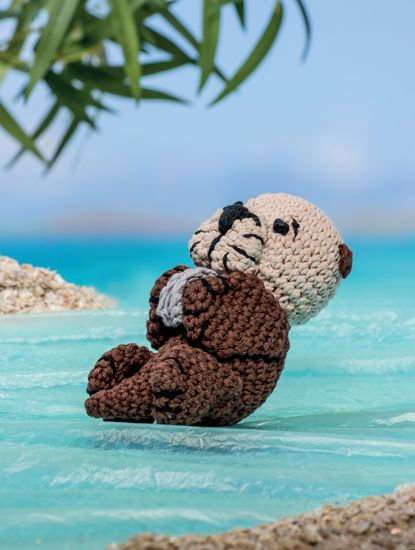 Sea-Otter - Bathtime-Buddies - 20 Crochet Animals from the Sea