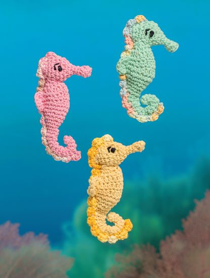 Seahorse - Bathtime-Buddies - 20 Crochet Animals from the Sea