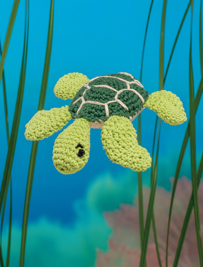Sea Turtle - Bathtime-Buddies - 20 Crochet Animals from the Sea