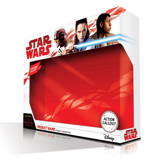 Force Friday II - New packaging for Star Wars: The Last Jedi has been released. The striking images include a lightsaber-wielding Rey, Poe Dameron, and Finn.