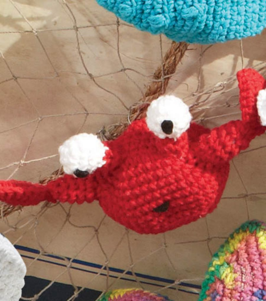 Crochet Amigurumi Crab : Crochet Coral Reef - Marrying a Love For Math, Coral and Art