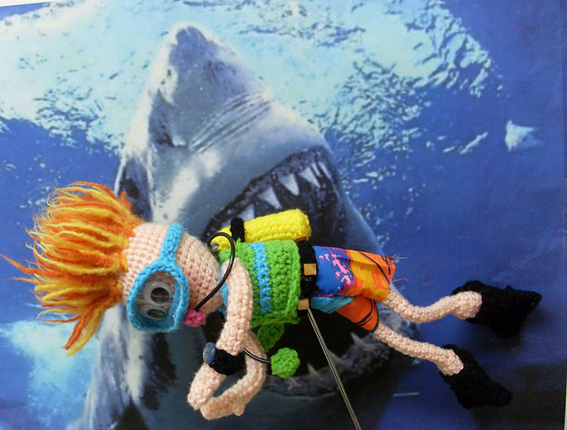 Scuba Diver - Free Crochet Pattern by Nancy Anderson