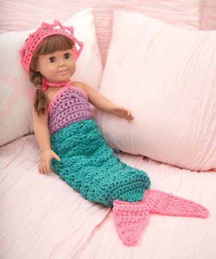 Free Crochet Pattern - 18-inch Doll Little Mermaid Costume