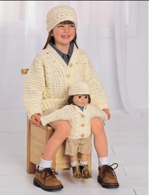 Free Crochet Pattern - Dollie and Me Matching Sweaters