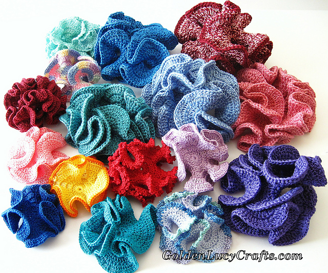 Hyperbolic Coral  Free Crochet Pattern by GoldenLucyCrafts