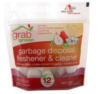 GrabGreen Garbage Disposal Freshener & Cleaner Pods (Red Pear with Magnolia Scent) - Guide to Healthy Cleaning: Top Products & Scary Ingredients to Avoid