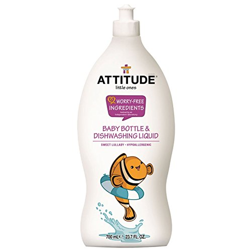 Attitude Little Ones Baby Bottle &; Dishwashing Liquid, Sweet Lullaby - Guide to Healthy Cleaning: Top Products & Scary Ingredients to Avoid
