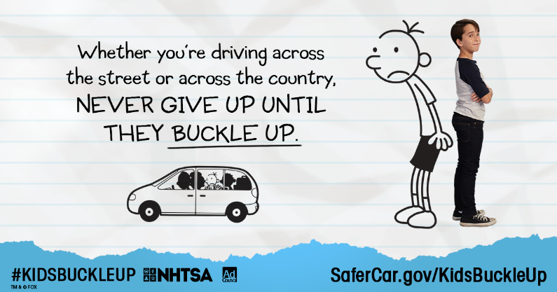From Car Seat to Seat Belt #KidsBuckleUp