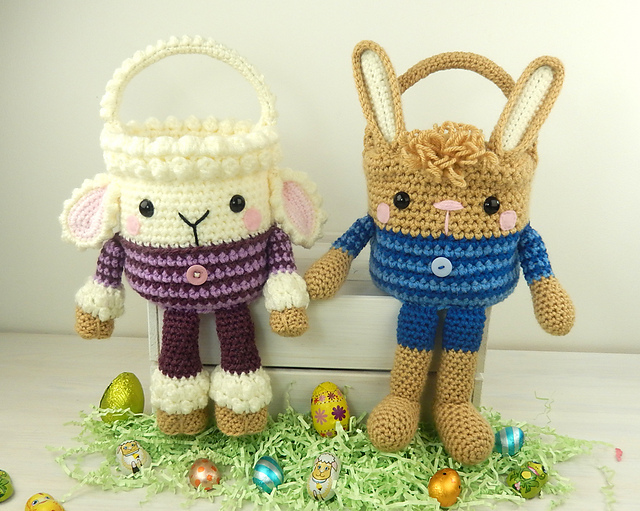 Fun Easter Basket Crochet Patterns Free Paid Baby To Boomer