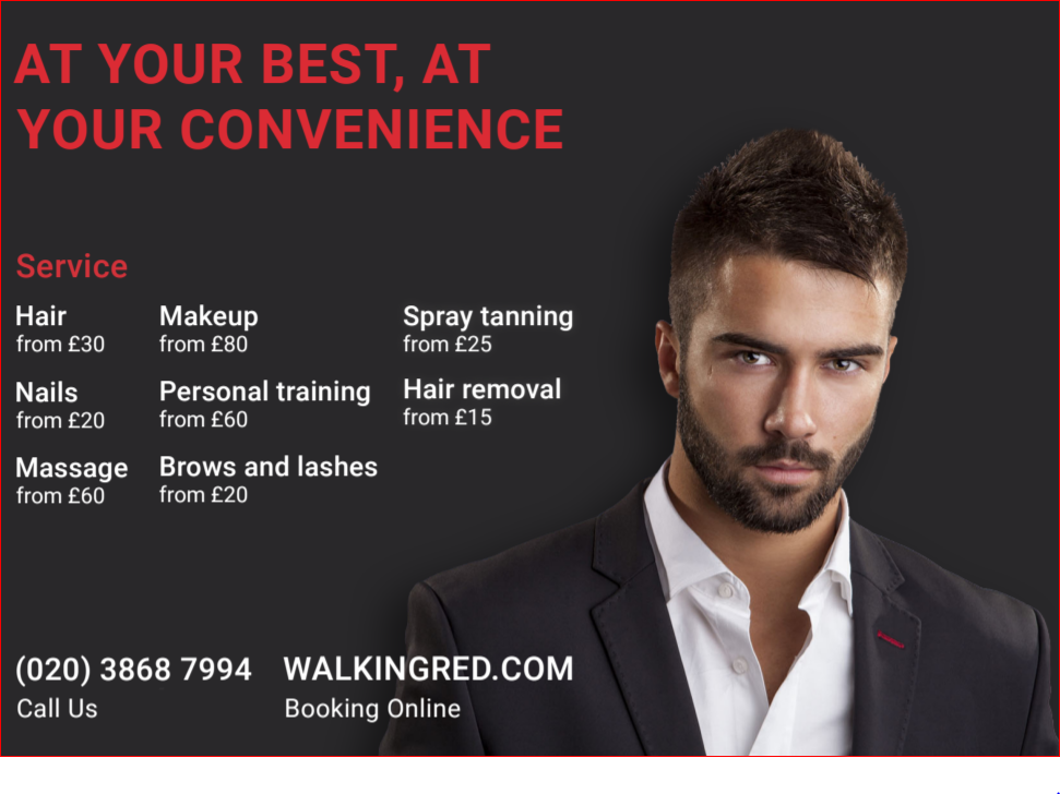 WalkingRed: Your Mobile On Demand Beauty and Fitness Service - available now in the UK and soon in the US!