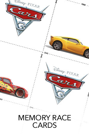 Disney/Pixar CARS 3 - Details & Downloadable Activity Sheets #Cars3 - Cars 3 Memory Race Game Free Download & Printable Activity Sheets for Kids