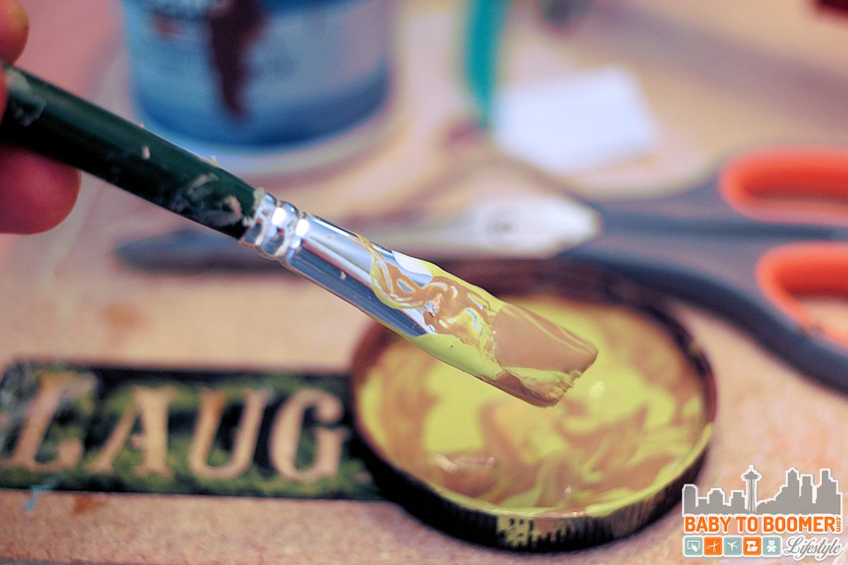 DIY Rustic Hanging Lamp - DIY Faux Rustic Paint #ad