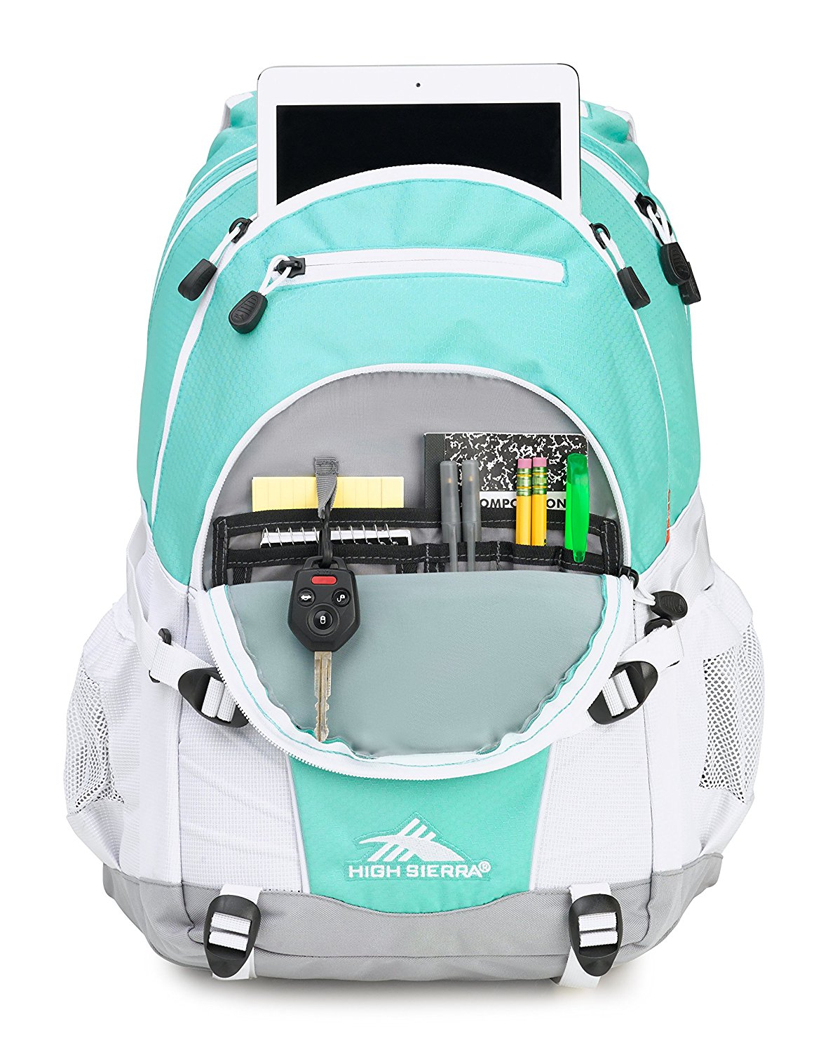 2017 Back-to-School Popular Backpacks Teens & Tweens - High Sierra Loop Backpack (Aquamarine/Ash/White)