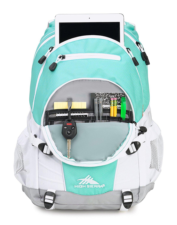 2017 Back-to-School Popular Backpacks Teens & Tweens - High Sierra Loop Backpack (Aquamarine/Ash/White)