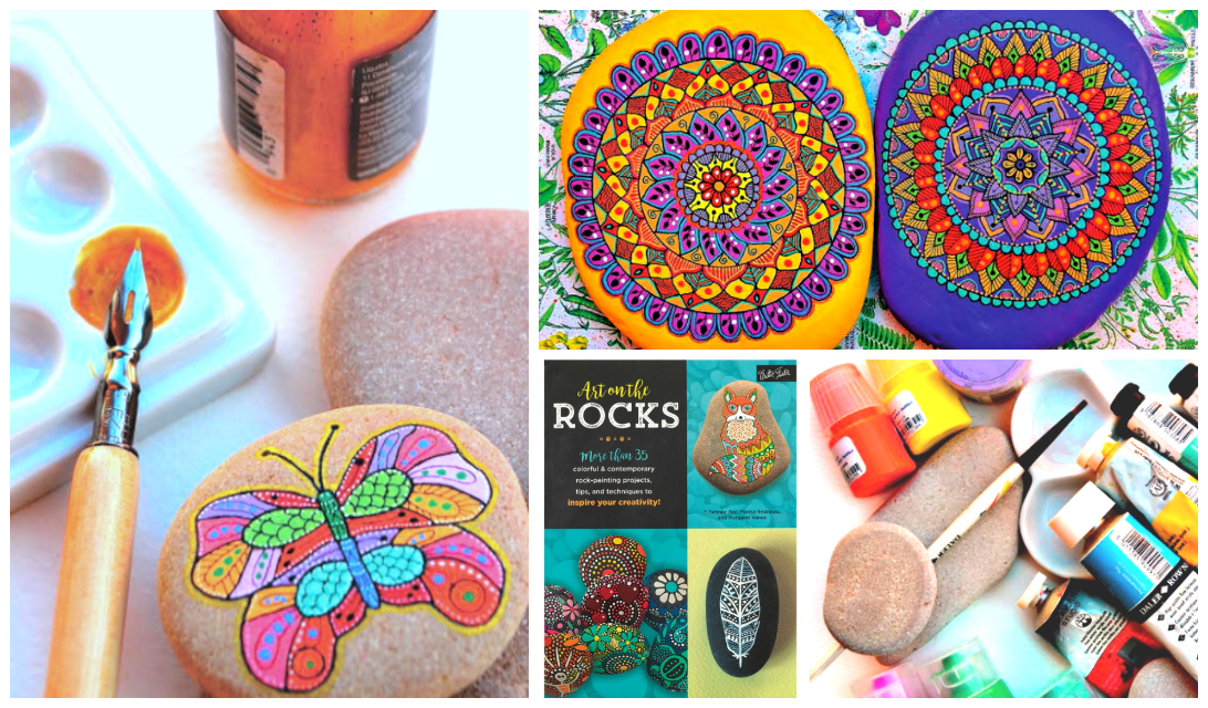 Art on the Rocks Book Review - The how-to book of painting on rocks from three fabulous artists plus 23 step-by-step painting projects #ad