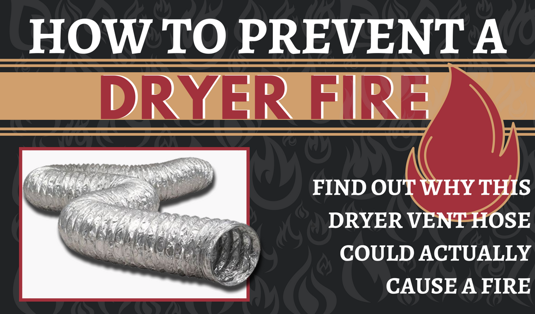 Dryer Fire - How Foil and Plastic Hoses Can Cause a Fire