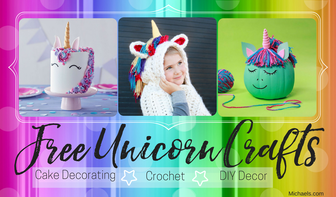 3 Free Unicorn Crafts – Cake Decorating, Crochet & DIY Decor