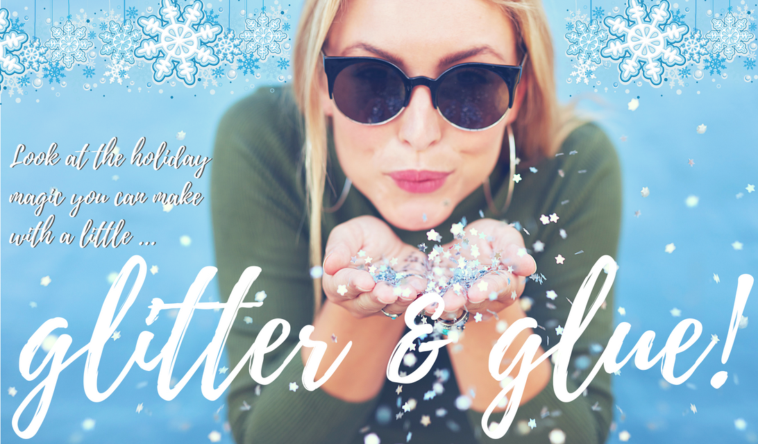 Easy DIY Christmas Decor with Glitter and Glue