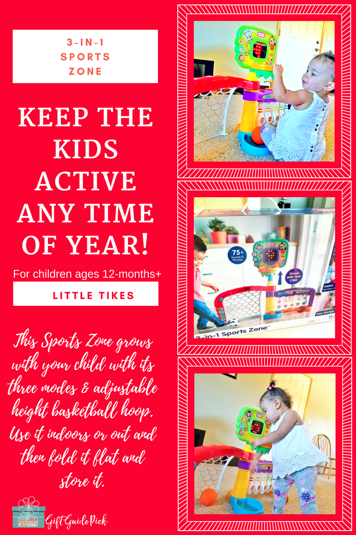 Keep Your Toddler Active When Going Outside Isn't Possible with the Light 'n Go 3-in-1 Sports Zone- 2017 Holiday Gift Guide Pick #ad
