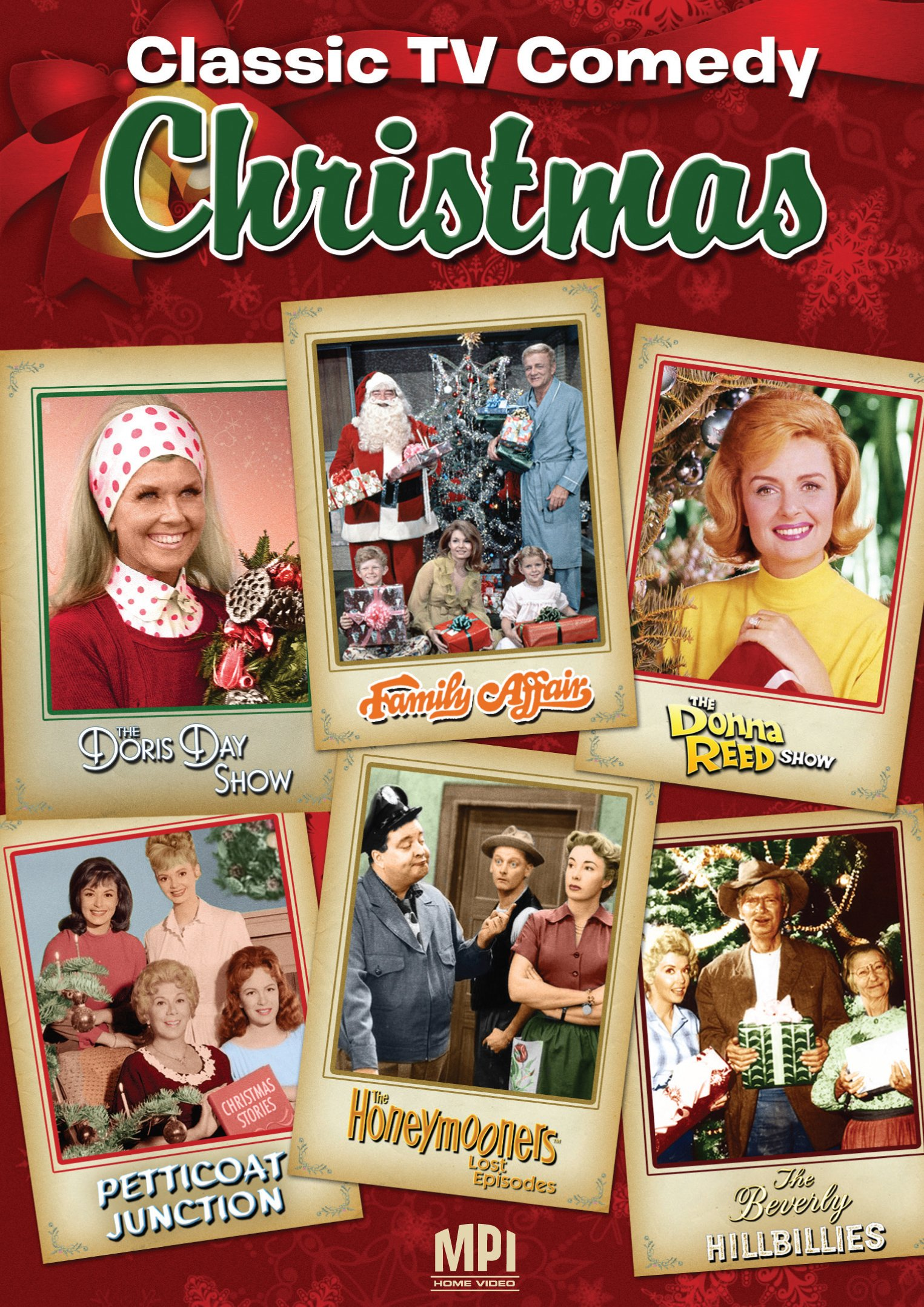CELEBRATE THE HOLIDAYS WITH FAVORITE TV FAMILIES FROM SIX BELOVED SITCOMS! 'Tis the season to sit back and enjoy old friends from years past with this warm and wonderful collection of yuletide episodes. CLASSIC TV COMEDY CHRISTMAS features the following hit series: THE LOST HONEYMOONERS: Christmas Party (1953) Starring Jackie Gleason, Art Carney, Audrey Meadows & Joyce Randolph THE DONNA REED SHOW: A Very Merry Christmas (1958) Starring Donna Reed, Carl Betz, Shelley Fabares, Paul Petersen & FAMILY AFFAIR: Christmas Came A Little Early (1968) Starring Brian Keith, Johnny Whittaker, Anissa Jones, Kathy Garver, Sebastian Cabot & Eve Plumb PETTICOAT JUNCTION: Cannonball Christmas (1963) Starring Bea Benaderet, Edgar Buchanan, Linda Kaye Henning, Jeannine Riley, Pat Woodell & Charles Lane THE BEVERLY HILLBILLIES: Home For Christmas (1962) Starring Buddy Ebsen, Irene Ryan, Donna Douglas, Max Baer, Jr. & Bea Benaderet THE DORIS DAY SHOW: It's Christmas Time In The City (1970) Starring Doris Day, McLean Stevenson, Rose Marie, Bernie Kopell, Kaye Ballard, Denver Pyle & Billy DeWolff