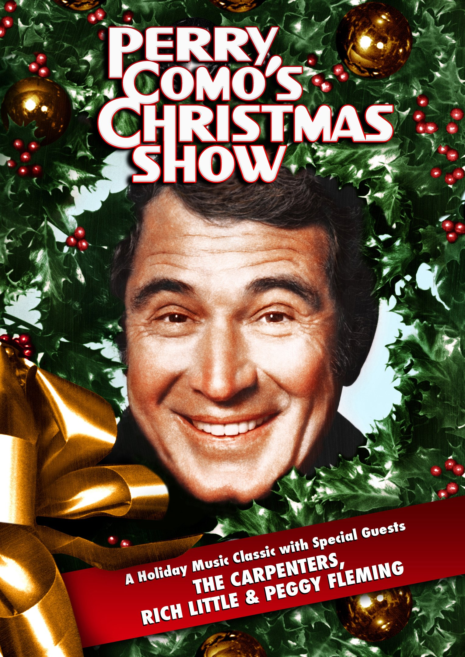 "PERRY COMO'S CHRISTMAS SHOW from 1974 represents the beloved crooner's decades-long association with holiday television specials that entertained tens of millions of viewers from the 1950s through the 1990s. Unseen anywhere since its one and only CBS-TV broadcast on December 17, 1974, PERRY COMO'S CHRISTMAS SHOW presents the host with special musical guests THE CARPENTERS along with Olympics skating star PEGGY FLEMMING and comedy great RICH LITTLE. Both PERRY COMO and THE CARPENTERS are embraced for their top-selling Christmas music and among the popular favorites featured on this colorful spectacular are ""Have Yourself A Merry Little Christmas"" (Como), ""Toyland"" (Como), ""Santa Claus Is Coming To Town"" (The Carpenters), ""Sleep Well Little Children"" (Como & Karen Carpenter) and ""Carol Of The Bells"" (Richard Carpenter). Additionally, Perry and The Carpenters team for a medley of each other's million-selling hits, including ""Close To You,"" ""It's Impossible,"" ""Yesterday Once More,"" ""And I Love You So"" and ""We've Only Just Begun. Peggy Fleming performs a beautifully choreographed ice skating production of ""The Christmas Waltz"" and the entire cast join together for ""It's Beginning To Look A Lot Like Christmas"" in a scene that recreates the Currier & Ives style Christmases of old."