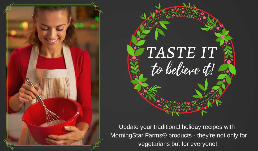 Make This One Simple Change to Update Your Traditional Holiday Recipes #VeryVeggieHoliday #ad