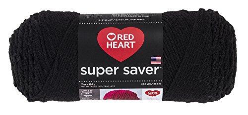 RED HEART Super Saver Yarn - Black 312