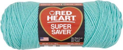 RED HEART Super Saver Yarn - Aruba Sea 505 Aqua