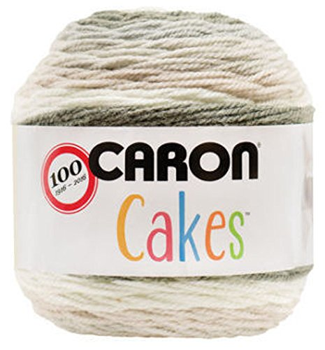 Caron Cakes Self Striping Yarn 383 yd 200 g (Cookies & Cream)