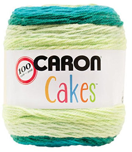 Caron Cakes Self Striping Yarn 383 yd 200 g (Lemon Lime)