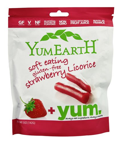 Yummy Earth YumEarth Soft Eating Licorice Gluten Free Strawberry - gluten-free, vegan, natural, non gmo, organic