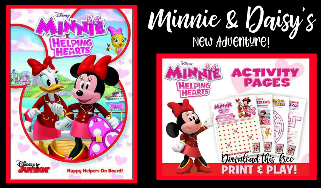 Minnie Mouse Helping Hearts DVD And Free Valentines Day Printable Activities