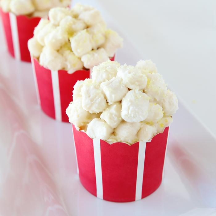 March Baking Subscription Kit - Oscar-themed with Movie Night Cupcakes. - you receive everything you need to create these fun treats including organic cake and frosting mixes, vegan marshmallows naturally dyed sanding sugar, and cupcake wrappers. Photo Credit: Foodstirs