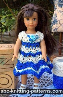 American Girl MINI Doll Chevron Dress