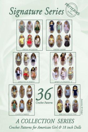36 Crochet Patterns for 18 inch Dolls